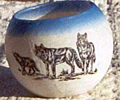 wolves image transfer votive