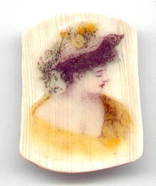 ivory victorian girl transfer