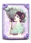 Victorian Girl in Purple