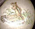 chipmunk image transfer candle holder