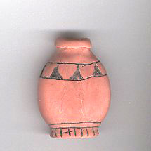 polymer clay carved terracotta jar