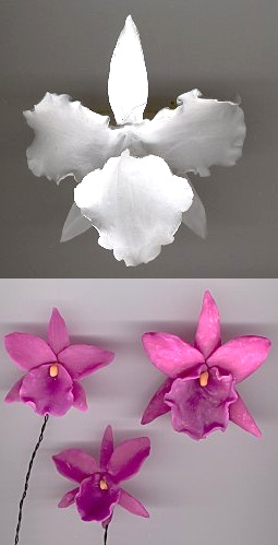 polymer clay orchids